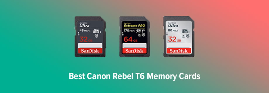 Canon Rebel T6 Memory Cards